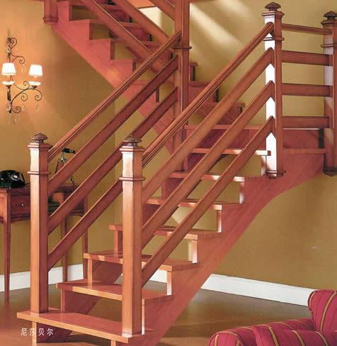 福特福星实木楼梯图片